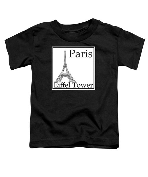Eiffel Tower In White Toddler T-Shirt by Custom Home Fashions
