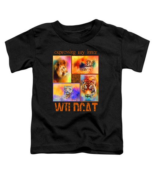 Expressing My Inner Wildcat Toddler T-Shirt by Jai Johnson