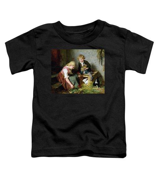 Feeding The Rabbits Toddler T-Shirt by Felix Schlesinger