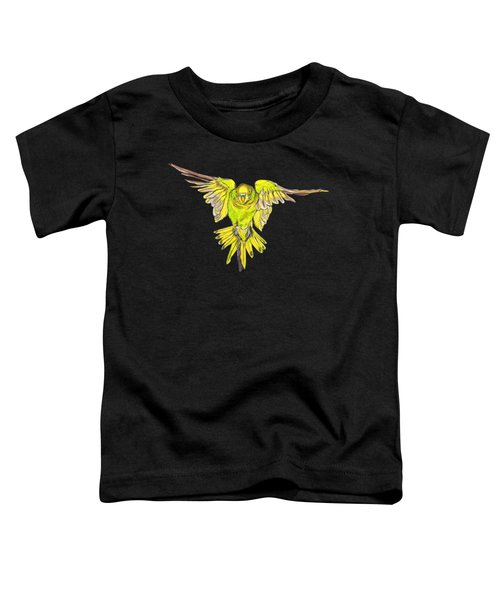 Flying Budgie Toddler T-Shirt by Lorraine Kelly