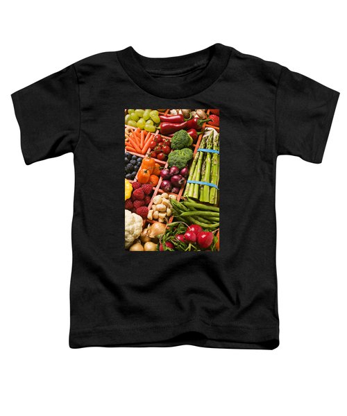 Food Compartments  Toddler T-Shirt by Garry Gay