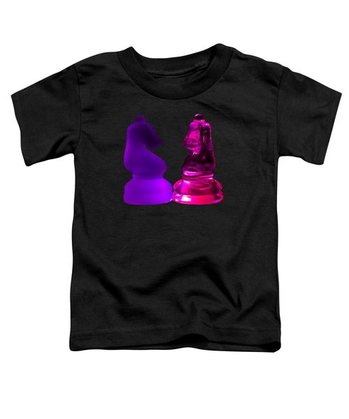 Glowing Glass Knights Toddler T-Shirt by Shane Bechler