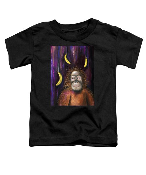 Going Bananas Toddler T-Shirt by Leah Saulnier The Painting Maniac