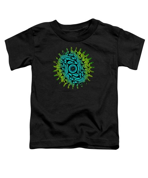 Green Dragon Eye Toddler T-Shirt by Anastasiya Malakhova