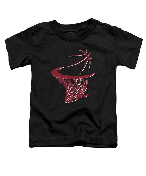 Heat Basketball Hoop Toddler T-Shirt by Joe Hamilton