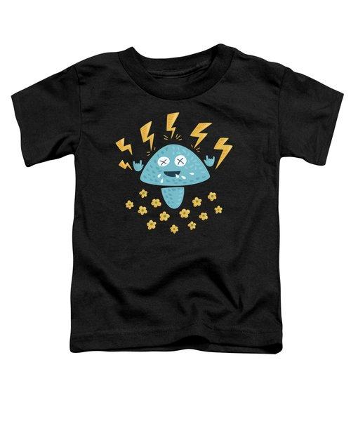 Heavy Metal Mushroom Toddler T-Shirt by Boriana Giormova