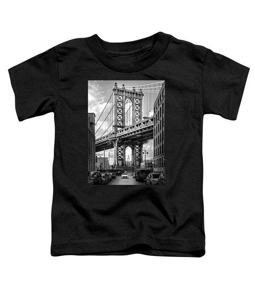Iconic Manhattan Bw Toddler T-Shirt by Az Jackson