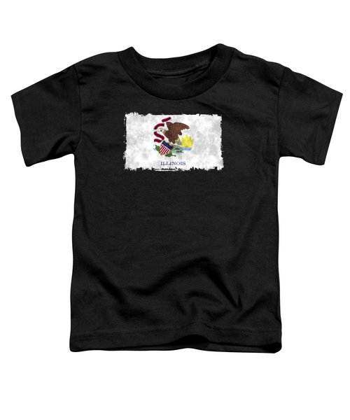 Illinois Flag Toddler T-Shirt by World Art Prints And Designs
