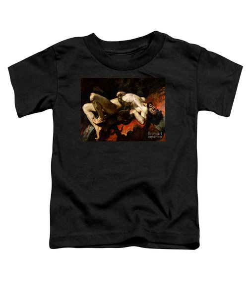 Ixion Thrown Into Hades Toddler T-Shirt by Jules Elie Delaunay