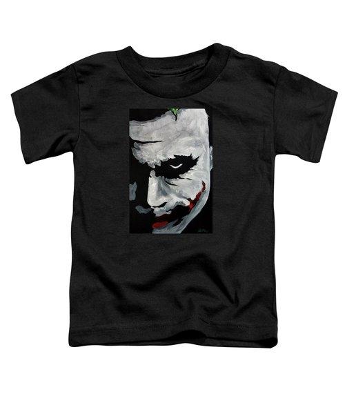 Ledger's Joker Toddler T-Shirt by Dale Loos Jr