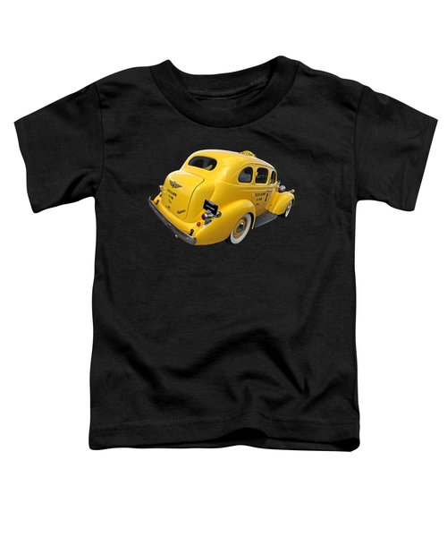 Let's Ride - Studebaker Yellow Cab Toddler T-Shirt by Gill Billington