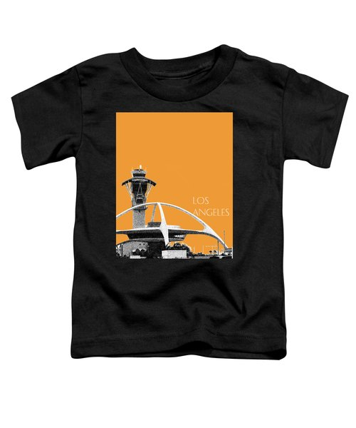 Los Angeles Skyline Lax Spider - Orange Toddler T-Shirt by DB Artist