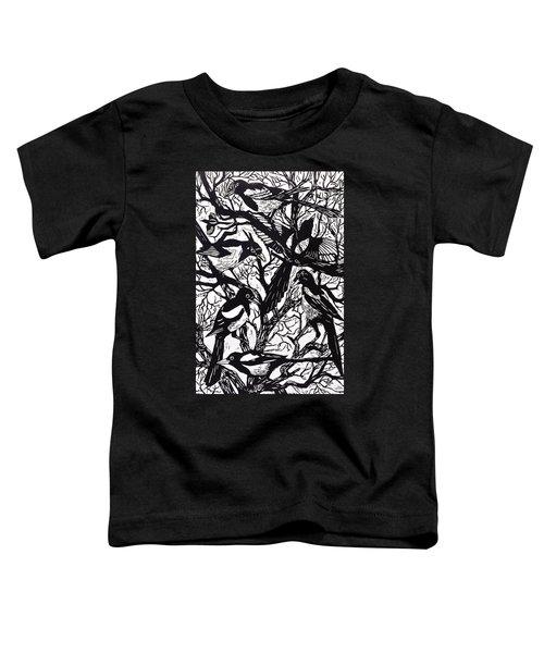 Magpies Toddler T-Shirt by Nat Morley