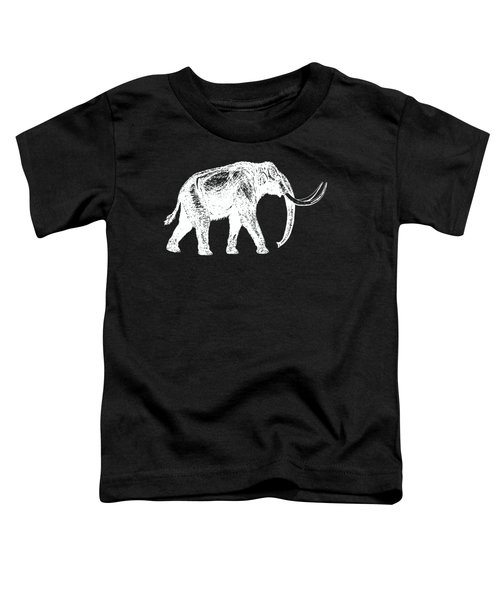 Mammoth White Ink Tee Toddler T-Shirt by Edward Fielding