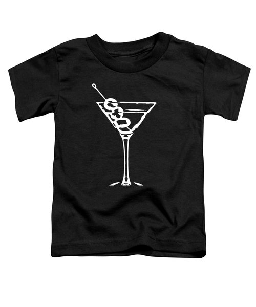 Martini Glass Tee White Toddler T-Shirt by Edward Fielding