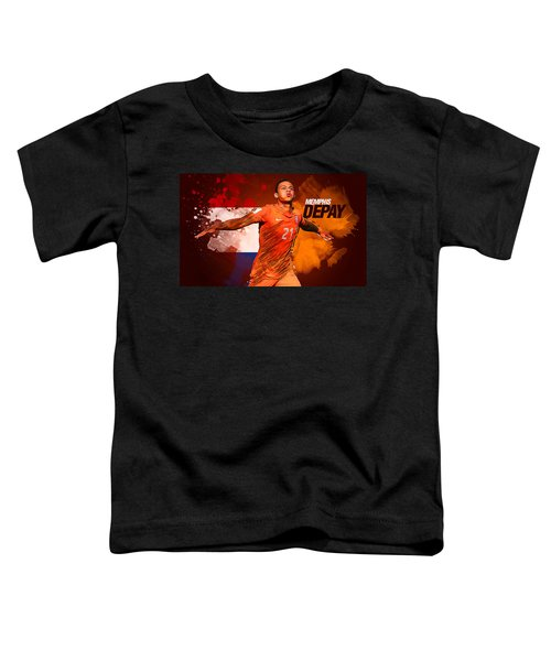 Memphis Depay Toddler T-Shirt by Semih Yurdabak