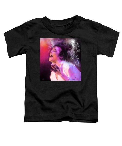 Michael Jackson 11 Toddler T-Shirt by Miki De Goodaboom