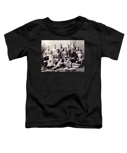Michigan Wolverine Football Heritage 1890 Toddler T-Shirt by Daniel Hagerman