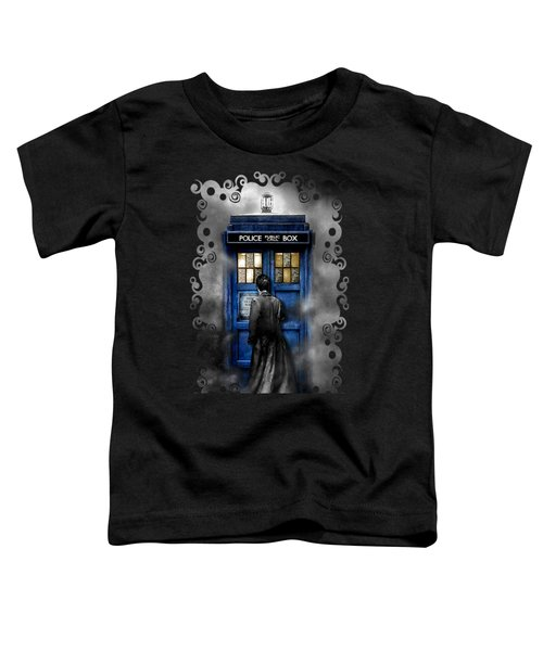 Mysterious Time Traveller With Black Jacket Toddler T-Shirt by Three Second