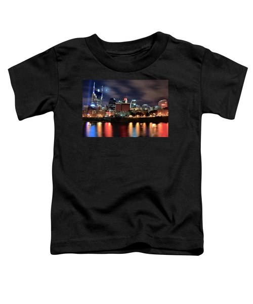Nashville Skyline Toddler T-Shirt by Frozen in Time Fine Art Photography