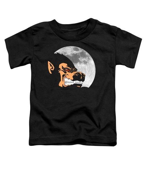 Night Monkey Toddler T-Shirt by Danilo Caro