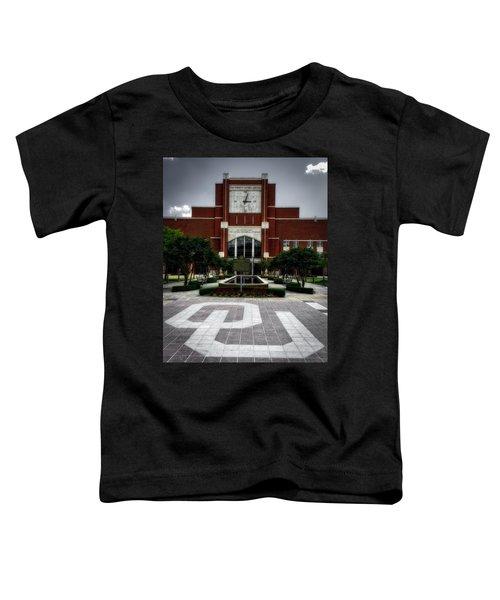 Oklahoma Memorial Stadium Toddler T-Shirt by Center For Teaching Excellence