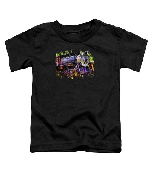 Old Locomotive No.90 Version 2 Toddler T-Shirt by Thom Zehrfeld