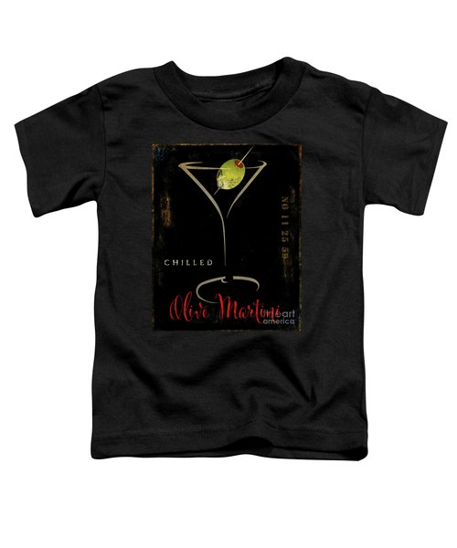 Olive Martini Toddler T-Shirt by Mindy Sommers