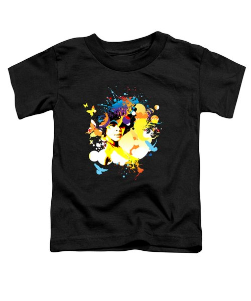 Onxy Doves - Bespattered Toddler T-Shirt by Chris Andruskiewicz