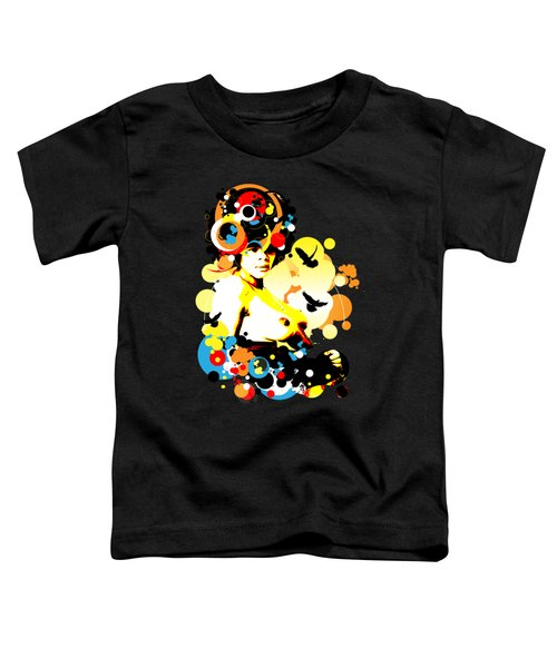 Onyx Doves Toddler T-Shirt by Chris Andruskiewicz