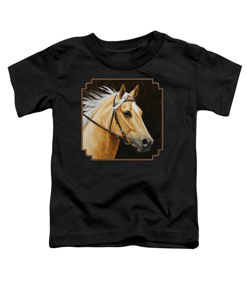 Palomino Horse Portrait Toddler T-Shirt by Crista Forest