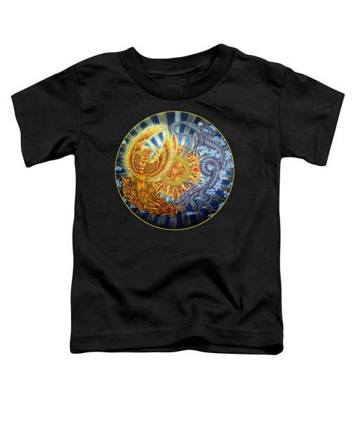Phoenix And Dragon Toddler T-Shirt by Rebecca Wang