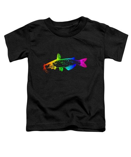 Rainbow Catfish #2 Toddler T-Shirt by Frederick Holiday
