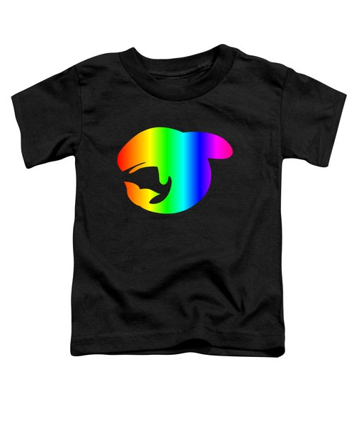 Rainbow Whale Toddler T-Shirt by Frederick Holiday