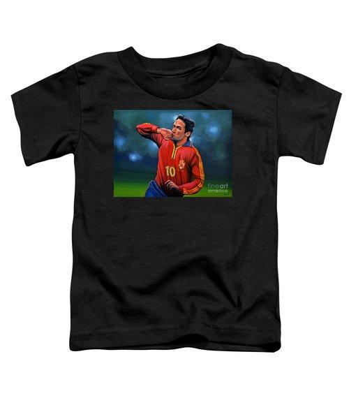 Raul Gonzalez Blanco Toddler T-Shirt by Paul Meijering