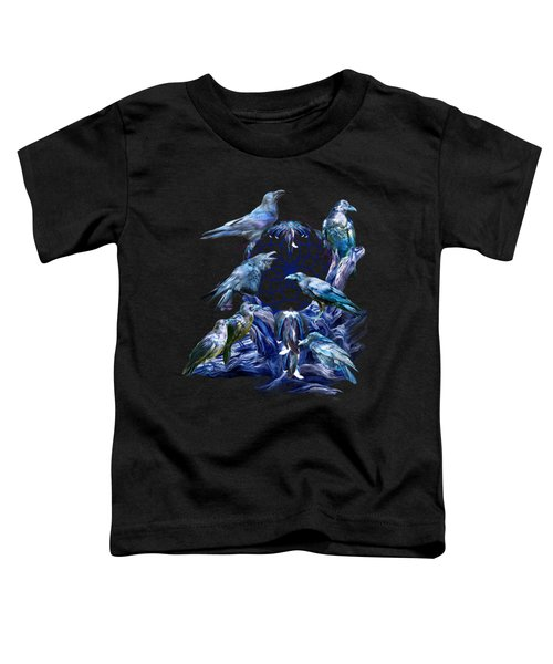 Raven Dreams Toddler T-Shirt by Carol Cavalaris