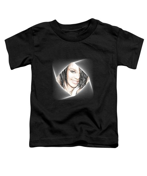 Rihanna  Toddler T-Shirt by Raina Shah