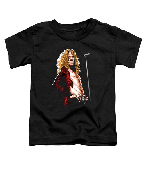 Robert Plant Of Led Zeppelin Toddler T-Shirt by GOP Art