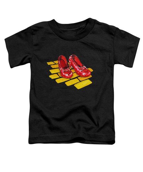 Ruby Slippers From Wizard Of Oz Toddler T-Shirt by Irina Sztukowski
