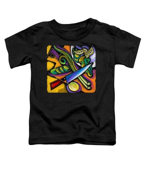 Tasty Salad Toddler T-Shirt by Leon Zernitsky