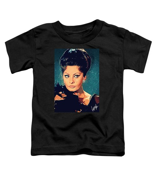 Sophia Loren Toddler T-Shirt by Taylan Soyturk