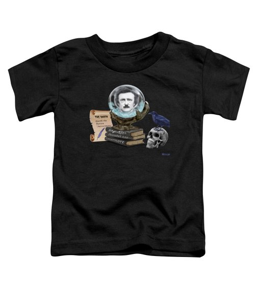 Spirit Of Edgar A. Poe Toddler T-Shirt by Glenn Holbrook
