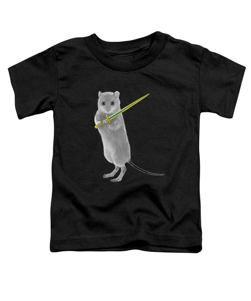 Squeaky, Warrior Mouse Toddler T-Shirt by Susan Eileen Evans