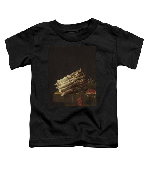 Still Life With Asparagus And Red Currants Toddler T-Shirt by Adriaen Coorte