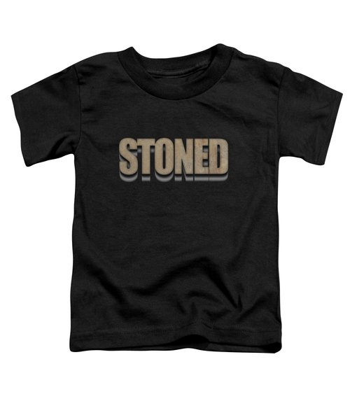 Stoned Tee Toddler T-Shirt by Edward Fielding