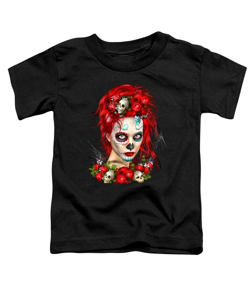 Sugar Doll Red Toddler T-Shirt by Shanina Conway