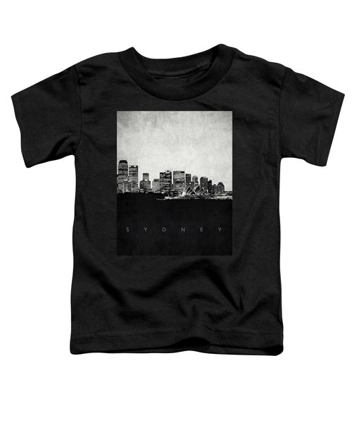 Sydney City Skyline With Opera House Toddler T-Shirt by World Art Prints And Designs