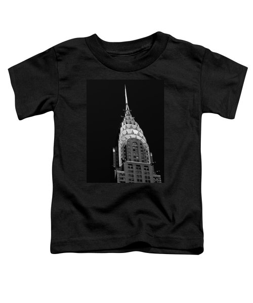 The Chrysler Building Toddler T-Shirt by Vivienne Gucwa