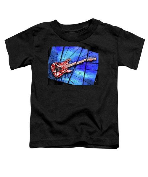 The Frankenstrat On Blue I Toddler T-Shirt by Gary Bodnar