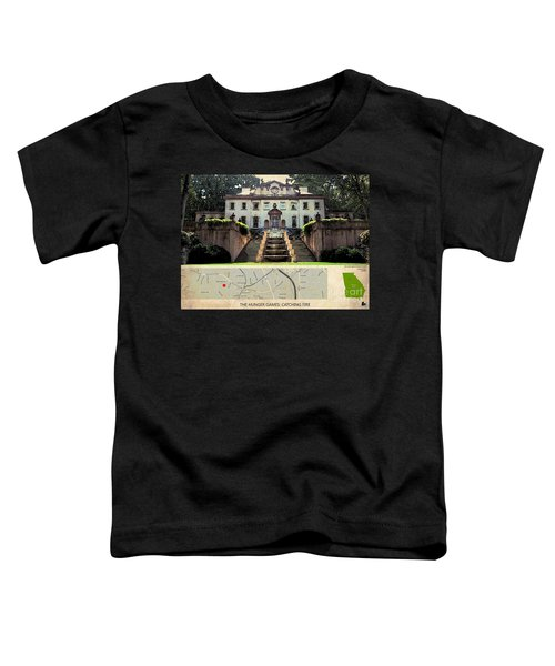 The Hunger Games Catching Fire Movie Location And Map Toddler T-Shirt by Pablo Franchi
